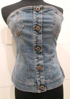 Authentic Dolce and Gabbana Denim Corset Top by MISSVINTAGE5000, $85.00
