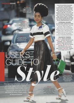 Urban Bush Babes-Cipriana Featured In The February Issue Of Allure Magazine