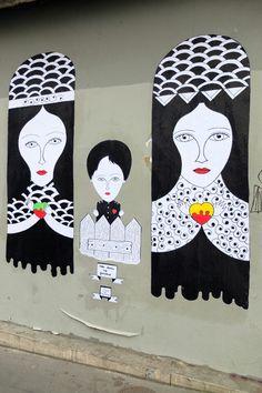Paris 11 - rue de la roquette - street art - Fred le chevalier