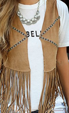 talk native to me fringe vest