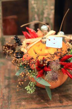 ハロウィーン/花屋/花どうらく/http://www.hanadouraku.com//pumpkin