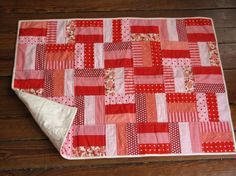 Red & Pink Patchwork Quilt