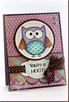 By Makiko Jones  Opal Owl Owl Sentiments from Sweet 'N Sassy Stamps