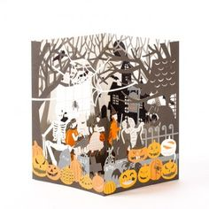 Displayable Laser-Cut Haunted House