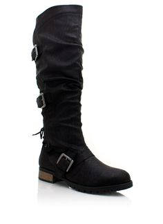 5a2a00a46a59 lace-up buckle riding boots  42.90 I want the black And the brown pair!