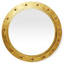 Porthole Mirror, Gold
