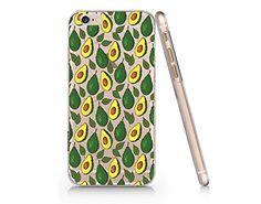 Avocado Pattern Clear Transparent Plastic Phone Case for Iphone 6 6s_ SUPERTRAMPshop (VAS301c) SUPERTRAMPshop