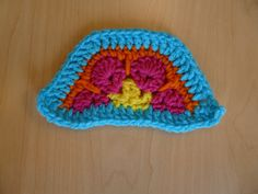 Border of African Flower half-hexagon completed