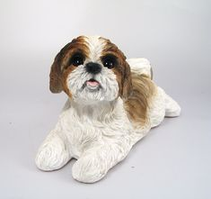 Shih Tzu Dog Real Life Resin Ornament by Vivid Arts