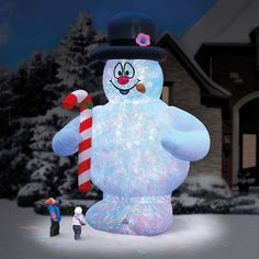 Huge 18 Ft Frosty Snowman W/ Candy Cane Airblown Inflatable Christmas Yard Decor Inflatable Christmas Decorations, Christmas Yard Decorations, Christmas Inflatables, Holiday Ornaments, Office Decorations, Christmas Snowman, Christmas Time, Christmas Stuff, Xmas