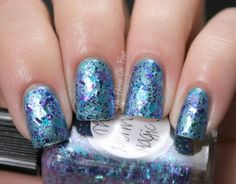 Lynnderella The Mermaids Magic Bag over blue duochrome