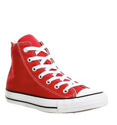 a54ac3aa57bfb0 Converse All Star Hi Red Canvas - Unisex Sports