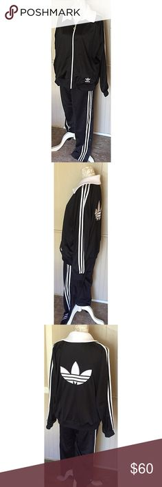 Adidas Original Tracksuit Very good condition track suit. Bottoms are small and top is medium Adidas Jackets & Coats