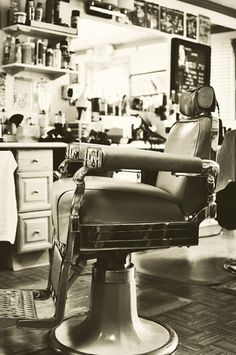 Barber Shop Decor  Vintage Barber Chair by SilvinePhotography, $20.00