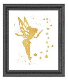 Amazon.com: Gold Print Inspired by Peter Pan - Second Star to the Right - Gold Poster Print Photo Quality - Made in USA - Home Art Print -Frame not included (8x10, Second Star): Posters & Prints