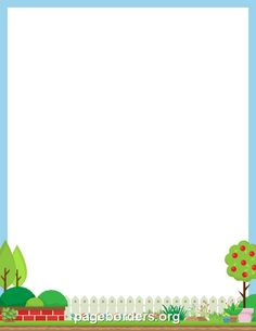 Printable Plant Border. Use The Border In Microsoft Word Or Other Programs  For Creating Flyers