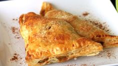 Delicious, yet so easy to make. Anyone can do these classic apple turnovers! use puff pastry Apple Turnovers With Puff Pastry, Frozen Puff Pastry, Apple Turnover Recipe, Turnover Recipes, Apple Recipes, Baking Recipes, Fruit Recipes, Easy Recipes, Recipies