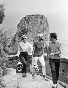 Alice ed Ellen Kesseler, Umberto Orsini, 1959 Capri, 1959 © Publifoto