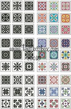 Mini Biscornu Cross Stitch Collection 2 by ester Biscornu Cross Stitch, Tiny Cross Stitch, Cross Stitch Borders, Cross Stitch Charts, Cross Stitch Designs, Cross Stitching, Cross Stitch Embroidery, Cross Stitch Patterns, Hand Embroidery
