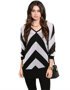 http://kahinikreative.com/product/v-day-sweater/  #black and white, #trendy sweater #sweaters