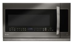 2.2 cu.ft. Over-the-Range Microwave Oven (Black Stainless Steel Series)  Warm up the room, and anything else you want. The LG Black Stainless Steel Series Over-the-Range Microwave Oven doesn't just fit perfectly above your oven, it fits in perfectly with any style of kitchen, all thanks to its flawless new finish.