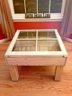Shabby Chic Window Coffee Table 250 Recycled Upcycled DIY