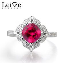 Leige Jewelry Ruby Ring Engagement Ring Cushion Cut Red Gems July Birthstone Ring 925 Sterling Silver Vintage Ring for Women - Affordable Jewelry Cushion Cut Engagement Ring, Ring Engagement, July Birthstone, Birthstone Jewelry, Affordable Jewelry, Vintage Rings, Birthstones, Heart Ring, Fine Jewelry