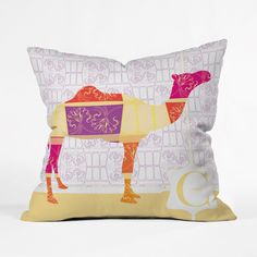 Calico Camel Throw Pillow