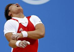 Weightlifter Sa Jae-hyouk dislocates elbow in #London2012 #Olympics' most gruesome injury. #SouthKorea (VIDEO/PHOTOS) (Reuters)