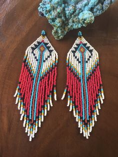 Magical Native American inspired seed bead by MossandtheMoon