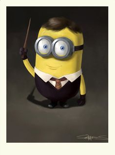 Harry Potter como Minion.