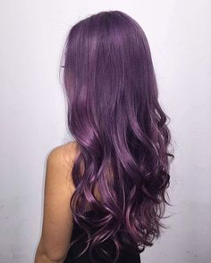 25 Purple Hair Color Ideas to Try in 2019 25 Purple Hair Color Ideas to Try in Purple hair color ideas are in right now, and what better these feminine purple hair? Purple hair colors are an excellent choice to try in 2019 beca…, Hair Color Dark Purple Hair Color, Lavender Hair Colors, Cool Hair Color, Color Fuchsia, Long Purple Hair, Purple Pixie, Dyed Hair Purple, Purple Highlights, Dye My Hair