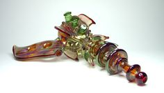 Unique glass pipes with evolving shapes and styles.