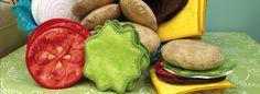 Soft plush burger ingredients