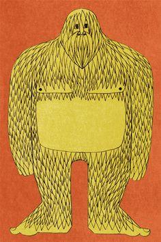 Bigfoot. Illustration by Lauren Nassef.