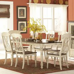 Have to have it. Homelegance Ohana 7 Piece Rectangle Dining Table Set - White & Cherry - $1412.69 @hayneedle