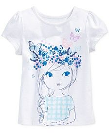 Epic Threads Little Girls' Mix and MatchGirl Flower Crown T-Shirt, Only at Macy's