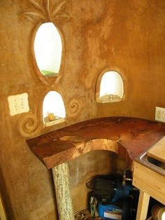 Inside Cob House by Mermaid Hair, via Flickr