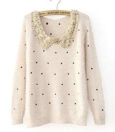 new 6 COLORS Women's sweater pullovers autumn round neck sequined knitted mohair sweaters and pullovers NO.328