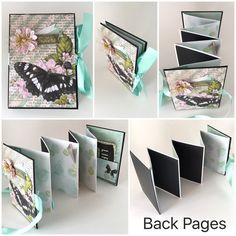 Sisters Photo Album - Mini Album - Butterfly Accordion Album, Black and Turquoise - Big Sister, I Lo Large Paper Flowers, Fabric Flowers, Baby Scrapbook, Scrapbook Albums, Mini Albums, Coin Envelopes, Word Patterns, Sister Photos, Memory Album