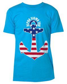 Alpha Sigma Tau Land Of The Free Tee by Adam Block Design | Custom Greek Apparel & Sorority Clothes | www.adamblockdesign.com | orders@adamblockdesign.com