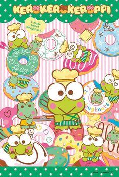 Keroppi Wallpaper, Kawaii Wallpaper, Wall Prints, Poster Prints, Posters, Anime Cover Photo, Hello Kitty Art, Japanese Poster Design, Hello Kitty Wallpaper