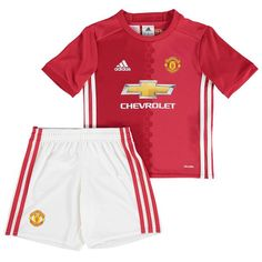 Manchester United adidas Toddler 2016/17 climalite Home Mini Kit - Red - $32.50