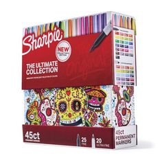 Sharpie Permanent Markers Ultimate Cosmic Color Collection, Fine and Ultra Fine Points, Assorted Colors, 45 Count Sharpie Markers, Sharpie Art, Sharpies, Sharpie Crafts, Tape Crafts, Coloring Books, Coloring Pages, Adult Coloring, Sharpie Colors