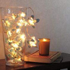 フランジパニランプ/造花ランプ/ストリングライト/フランジパニ/プルメリア/オブジェ/ディスプレイ照明