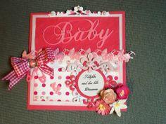 Baby girl - Baby card - scrap - congratulation - paperarts