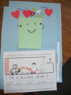 "Bucket Filler Art Project! Click on the link to download the ""I am a bucket filler when I..."" Writing Prompt"
