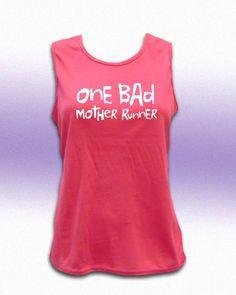 One Bad Mother Runner Women's Crew Neck Tech. Tank