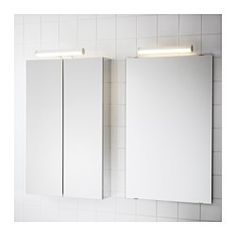 IKEA - ÖSTANÅ, LED cabinet/wall light, , Perfect for placing above a mirror or on top of a mirror cabinet to get a good, glare-free light for applying make-up or brushing your teeth.The LED light source consumes up to 85% less energy and lasts 20 times longer than incandescent bulbs.