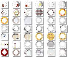 Décors graphiques pour les Arts de la table - Palluy-
